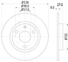 Qps 1100135 - D.FRENO BW 316-318-Z3