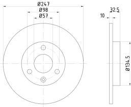 Qps 1100144 - D.FRENO CI XANTIA 93>