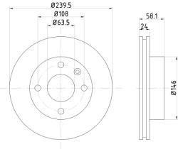 Qps 1100184 - D.FRENO FO SCORPIO 86>94