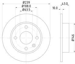Qps 1100187 - D.FRENO FO SIERRA 82>87 + HY STELLA