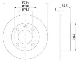 Qps 1100142 - D.FRENO CI AX-SAXO + PE 106 91>