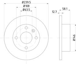 Qps 1100186 - D.FRENO FO ESCORT-ORION-SIERRA