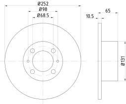 Qps 1100253 - D.FRENO FI PANDA-UNO + LN DELTA-Y10